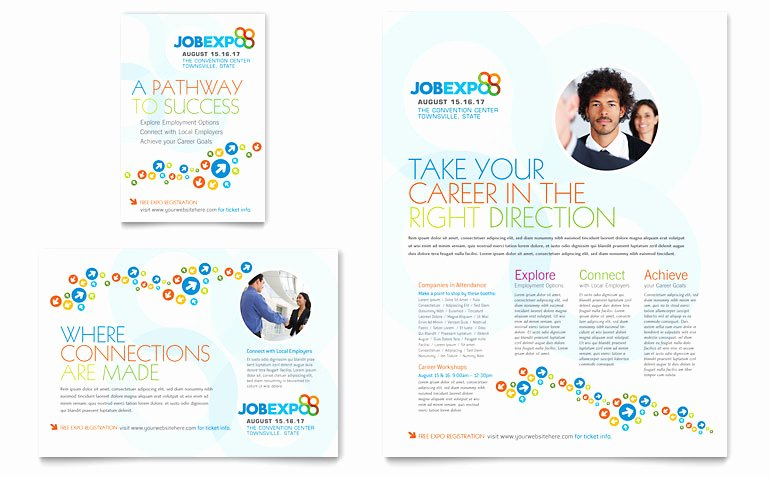 Job Flyer Template Word Awesome Job Expo & Career Fair Flyer & Ad Template Word & Publisher