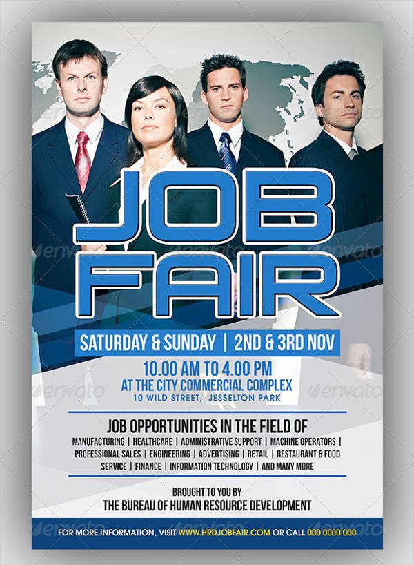 Job Flyer Template Word Best Of 10 Job Fair Flyer Samples Psd Word Ai Indesign