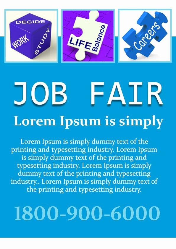 Job Flyer Template Word Fresh 10 Convincing Job Fair Flyers In Word & Psd Templates