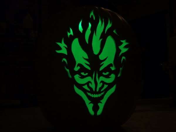 Joker Pumpkin Stencils Awesome Finished My First for 2009 Page 2 Zombie Pumpkins