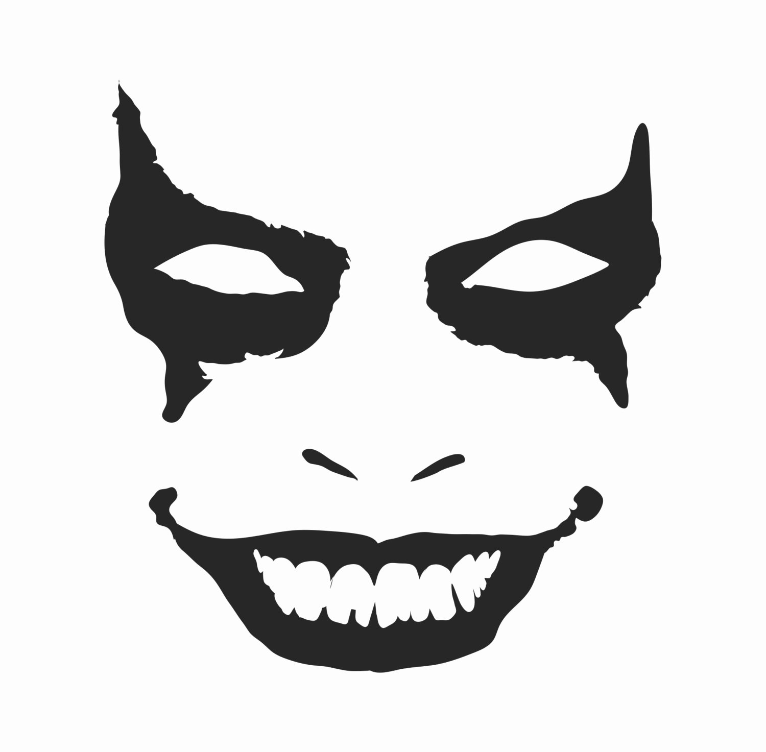 Joker Pumpkin Stencils Inspirational Joker Face Bumper Sticker Vinyl Decal Macbook Pro Air Sticker