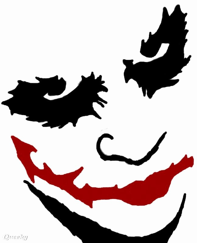 Joker Pumpkin Stencils Luxury Creepy Drawing