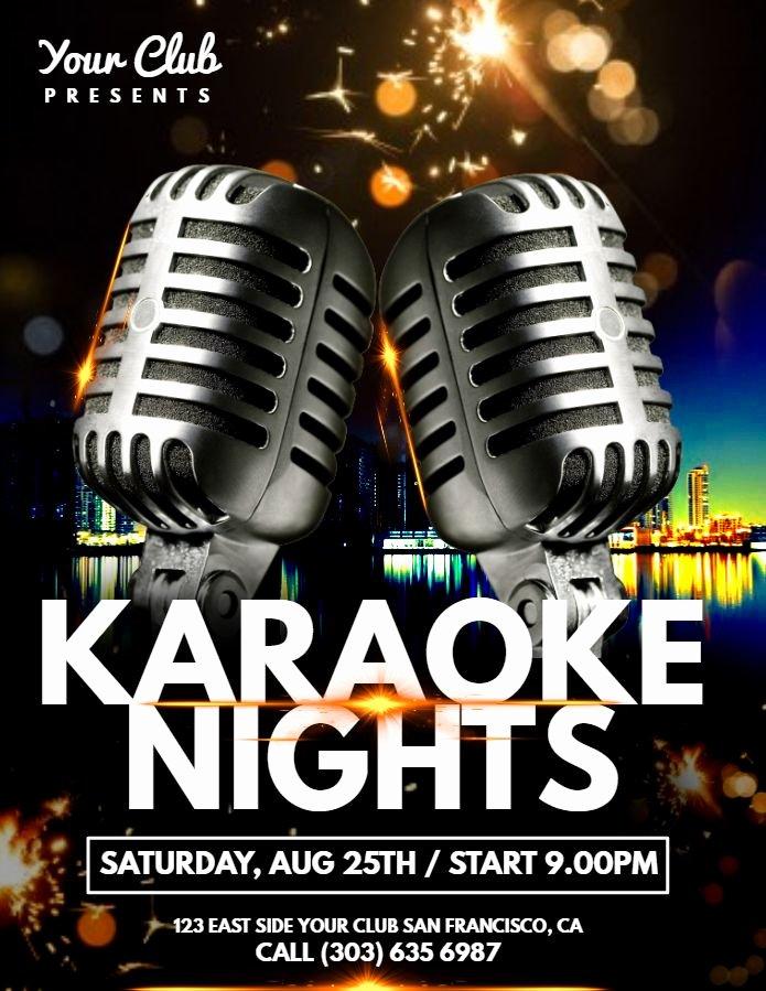 karaoke poster templates