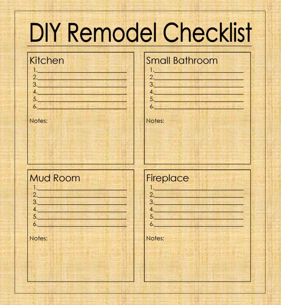 Kitchen Renovation Checklist Template Luxury Diy Remodel Checklist