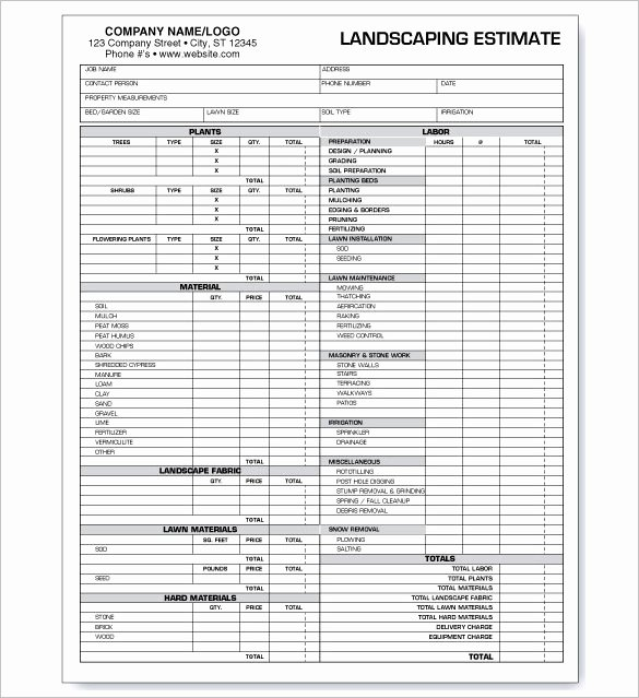 Landscaping Estimate Sample Lovely Mercial Roofing Estimate Templates Templates Resume