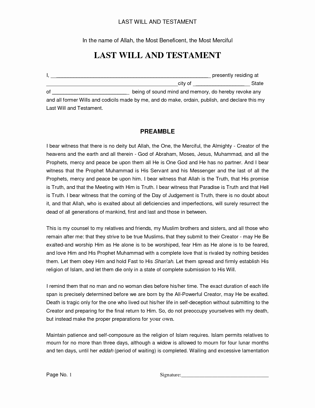 Last Will and Testament Template Microsoft Word Best Of Last Will and Testament Template