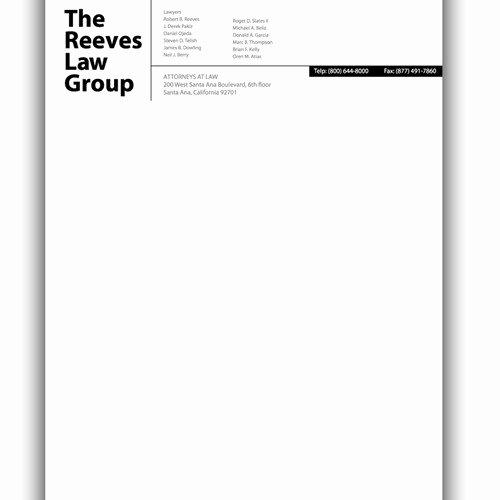 law firm letterhead design