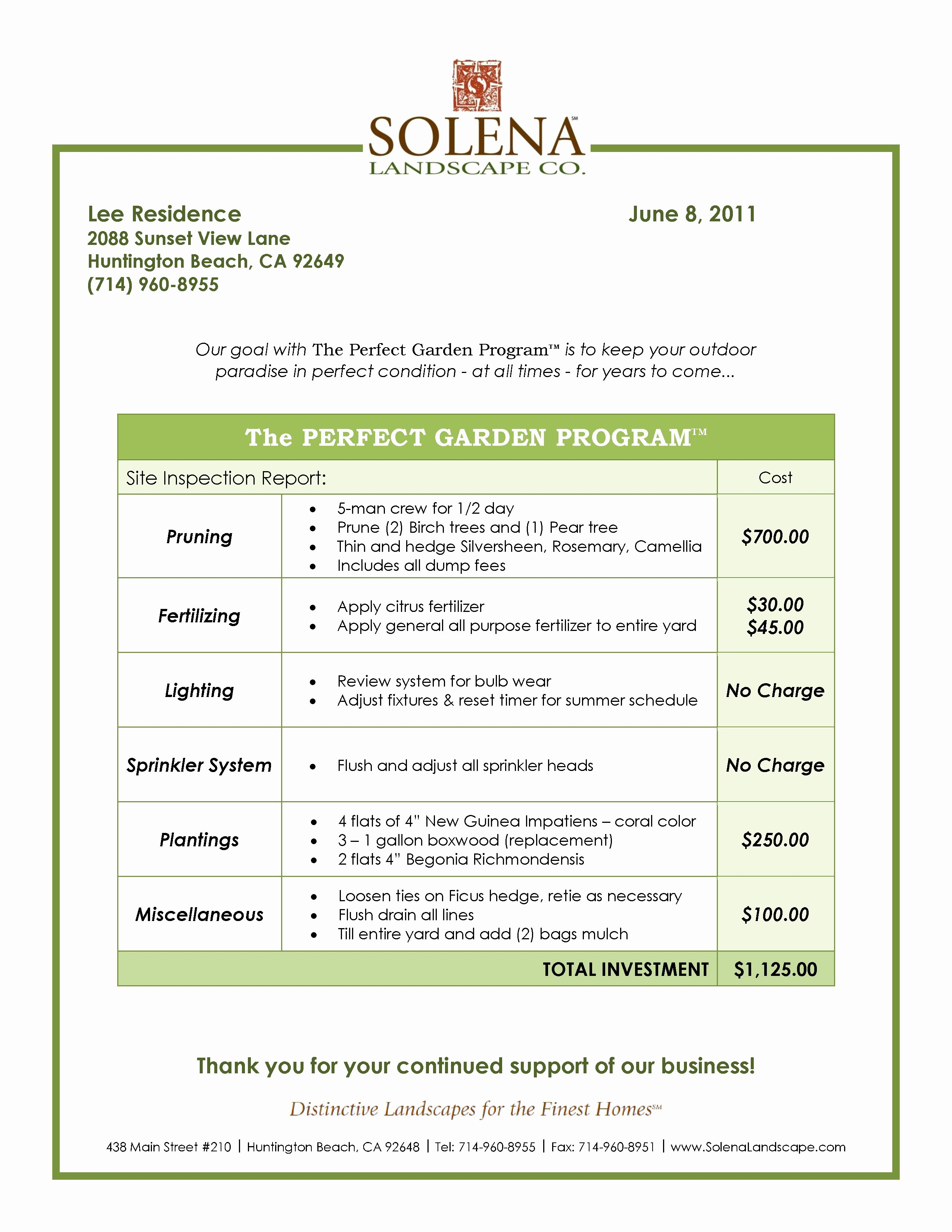 Lawn Service Proposal Template Free Elegant Grounds Maintenance Proposal Template