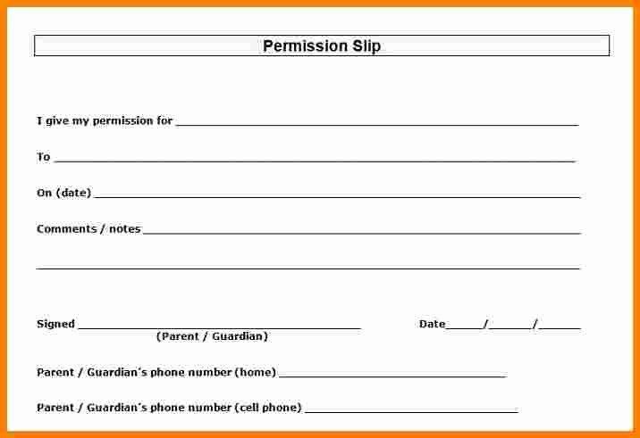 8 printable permission slips