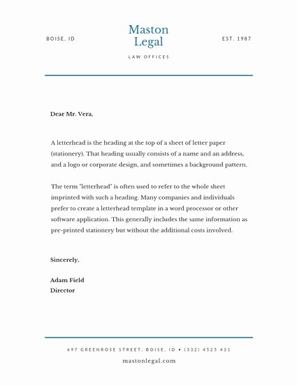 Legal Letterhead Templates Beautiful Customize 30 Law Firm Letterhead Templates Online Canva