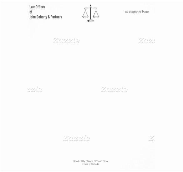 Legal Letterhead Templates Elegant 8 attorney Letterhead Templates