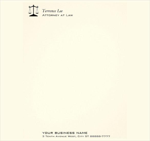 Legal Letterhead Templates New Legal Letterhead Template 17 Free Psd Eps Ai