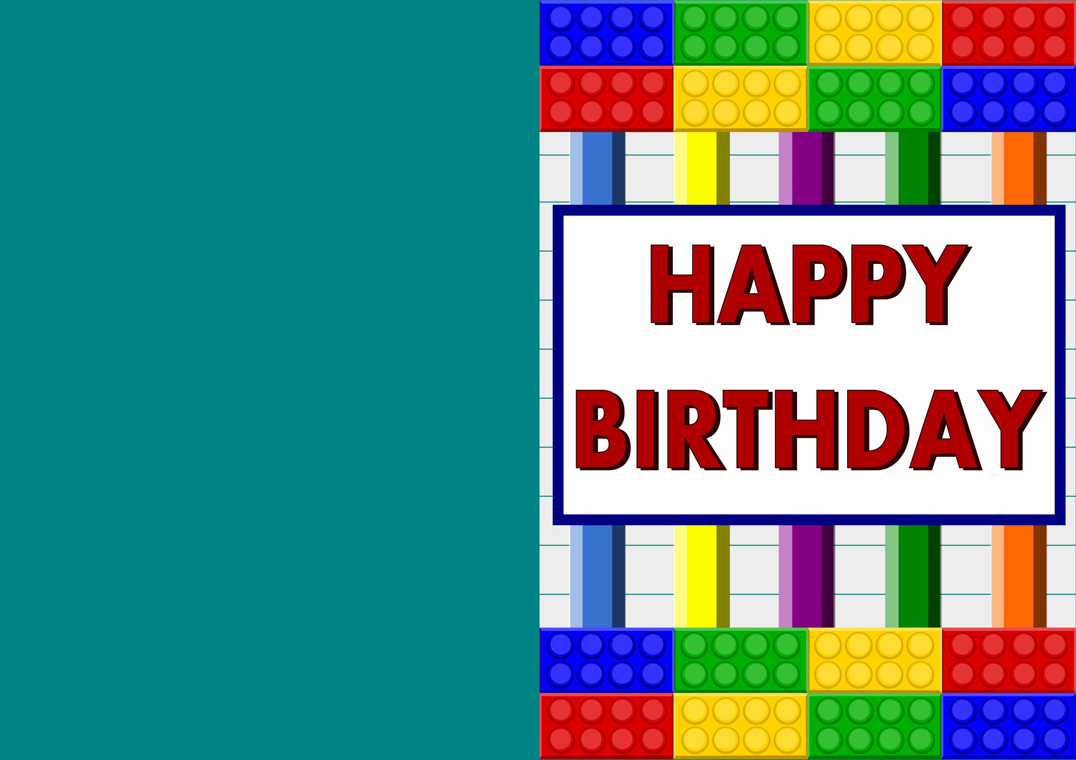 Lego Birthday Card Printable Unique Printable Cards – Stormdesignz