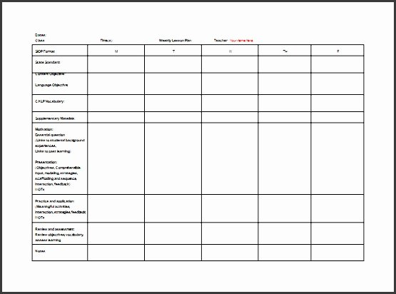 Lesson Plan Template for College Instructors Lovely 6 Lesson Planner for Teachers Sampletemplatess