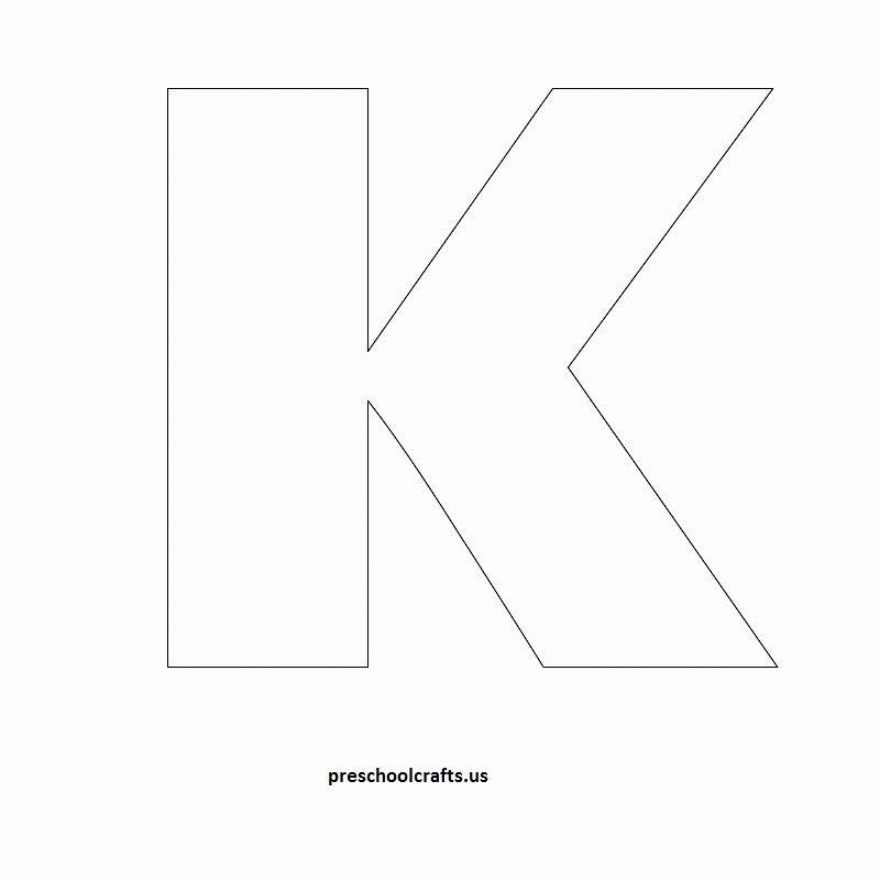 Letter A Template for Preschool New Letter K Template Letter Of Re Mendation