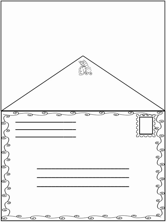 Letter Envelope Address Template Unique Spring Friendly Letter Fun Envelope with the 5 Parts Of