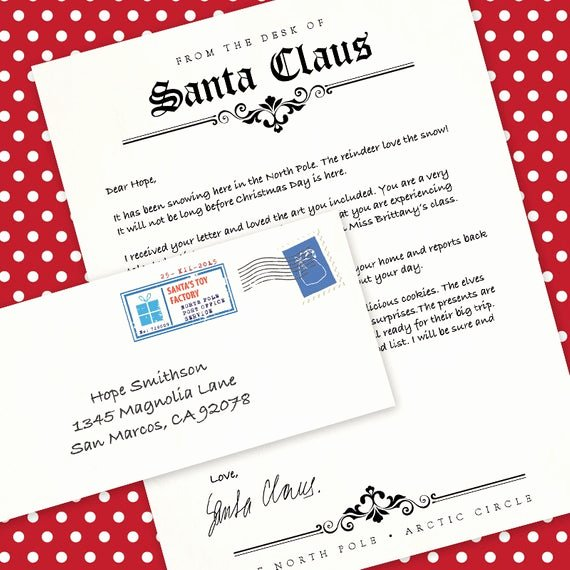 letter from santa claus ms word template