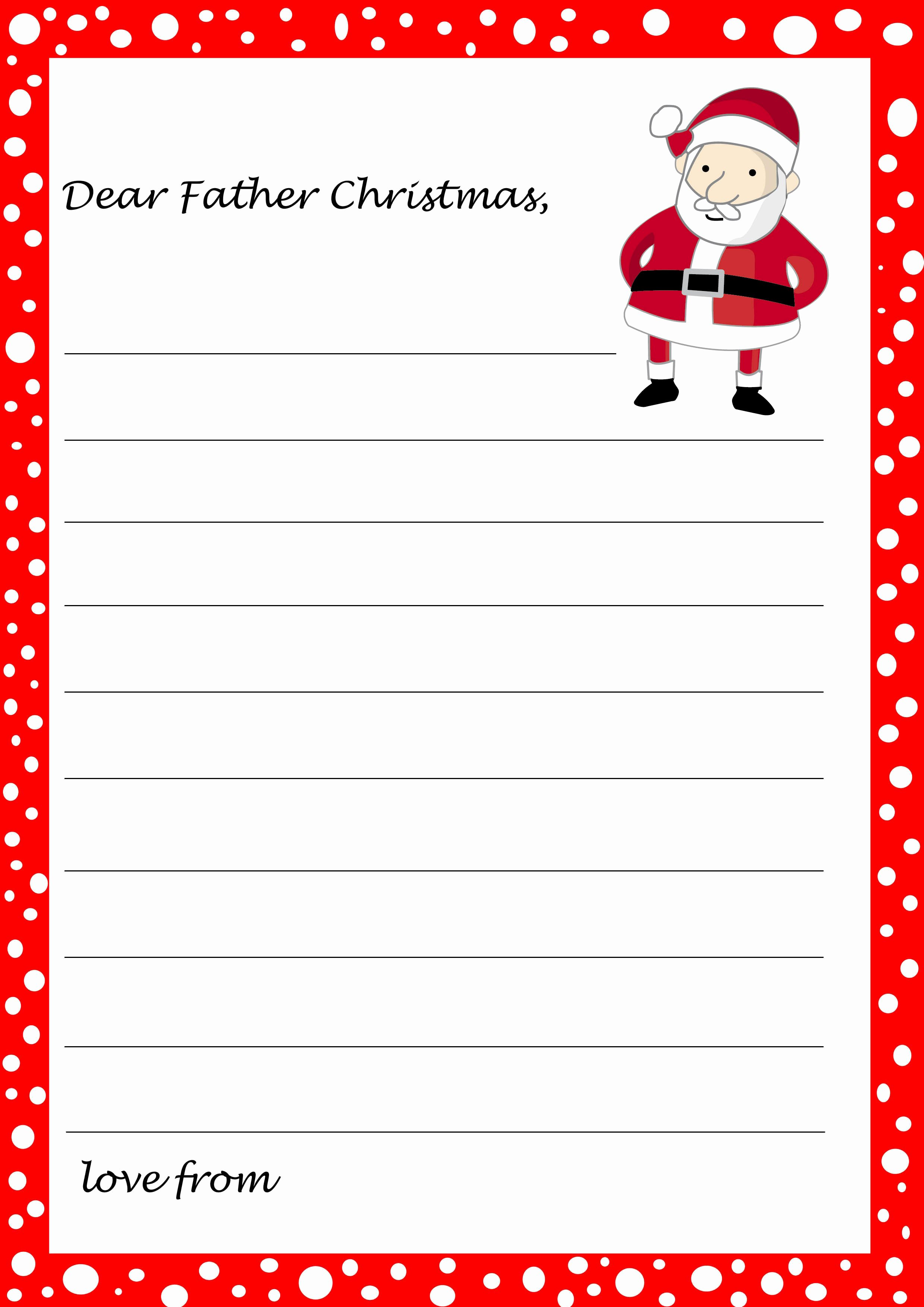 Letter From Santa Template Word Inspirational Free Printable Letter From Santa Template Word Download