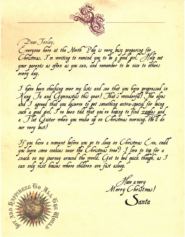 Letter From Santa Template Word Inspirational the Taming Of Tenley