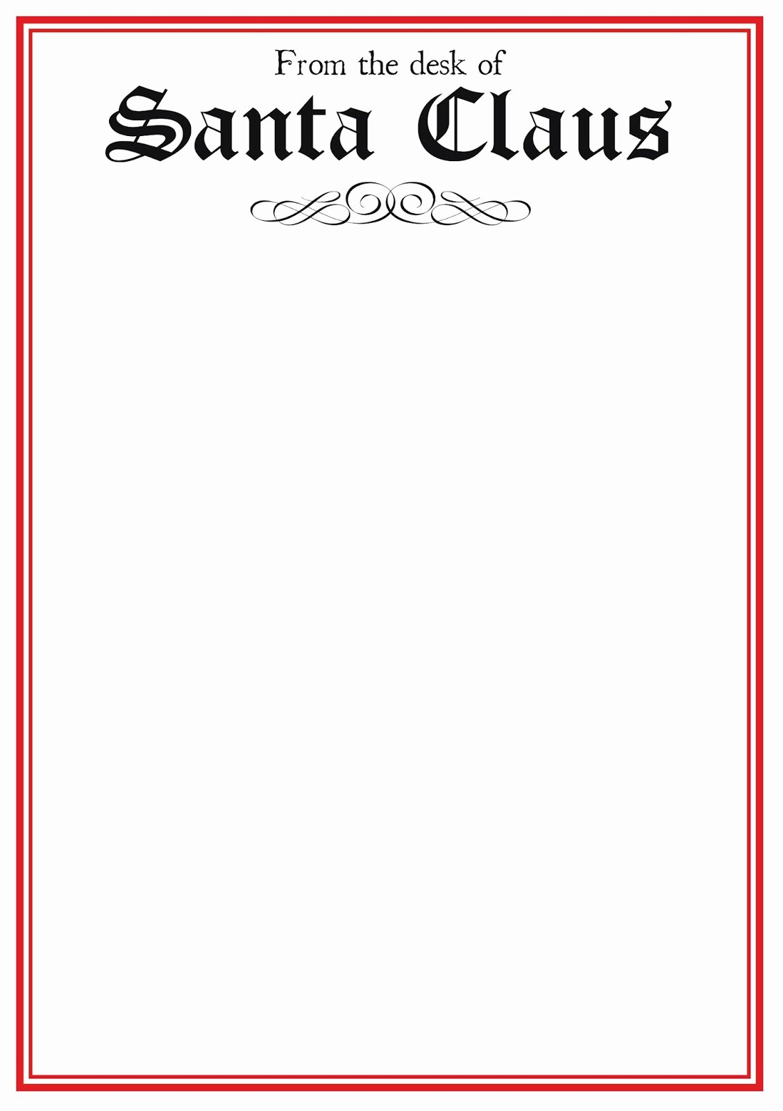 Letter From Santa Template Word Unique Free Printable Letter From Santa Template Word Download