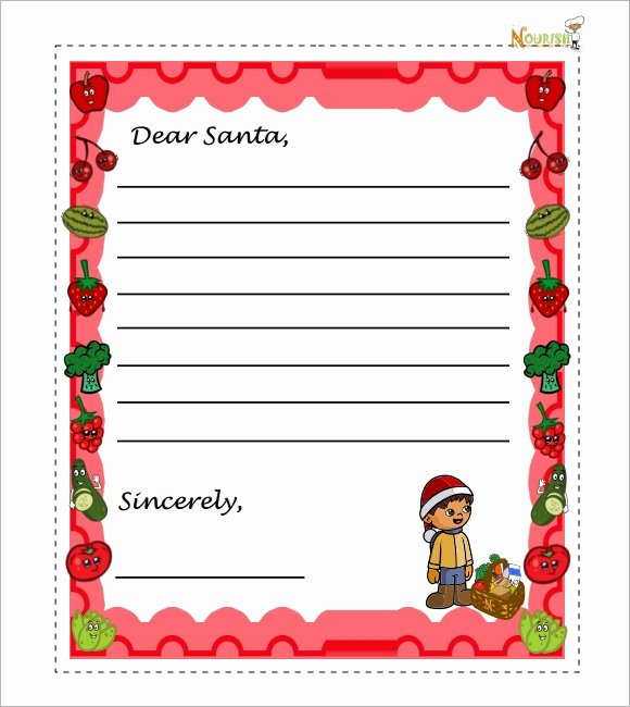 Letter From Santa Template Word Unique Santa Letter Template 7 Download Free Documents In Pdf