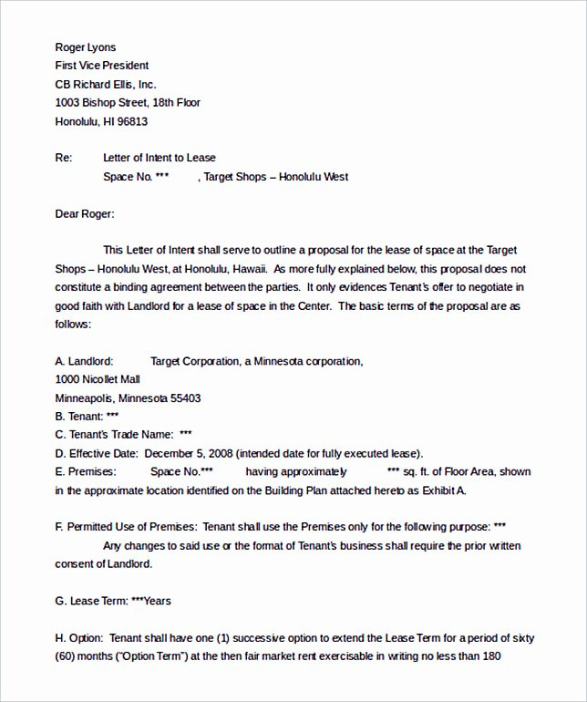 Letter Of Intent to Lease Sample New Make the Letter Of Interest Worth Reading