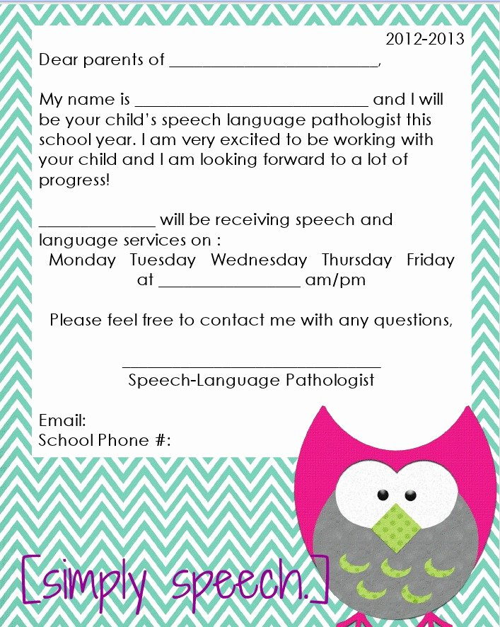Letters to Parents Template Awesome More organizational Freebies