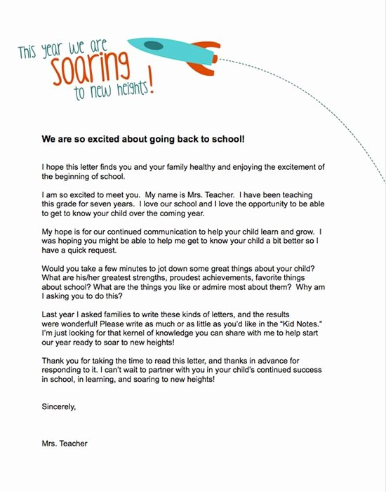 Letters to Parents Template Elegant Teacher Templates Letters Parents