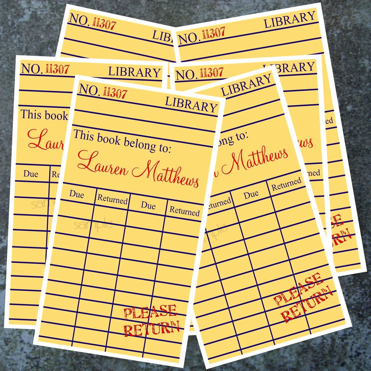 Library Checkout Card Template Awesome Personalized Library Book Stickers Library Book Ex Libris