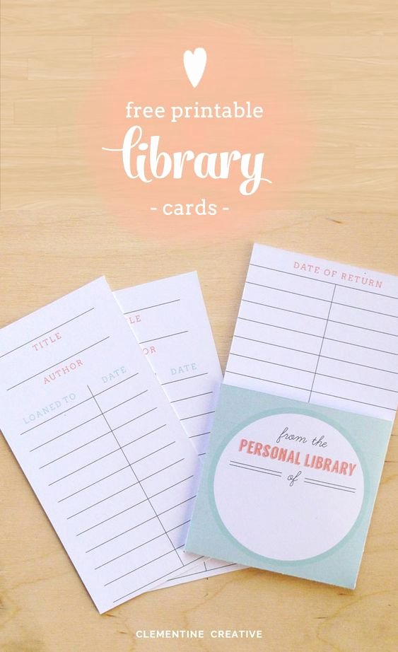 Library Checkout Card Template Beautiful Free Printable Library Cards
