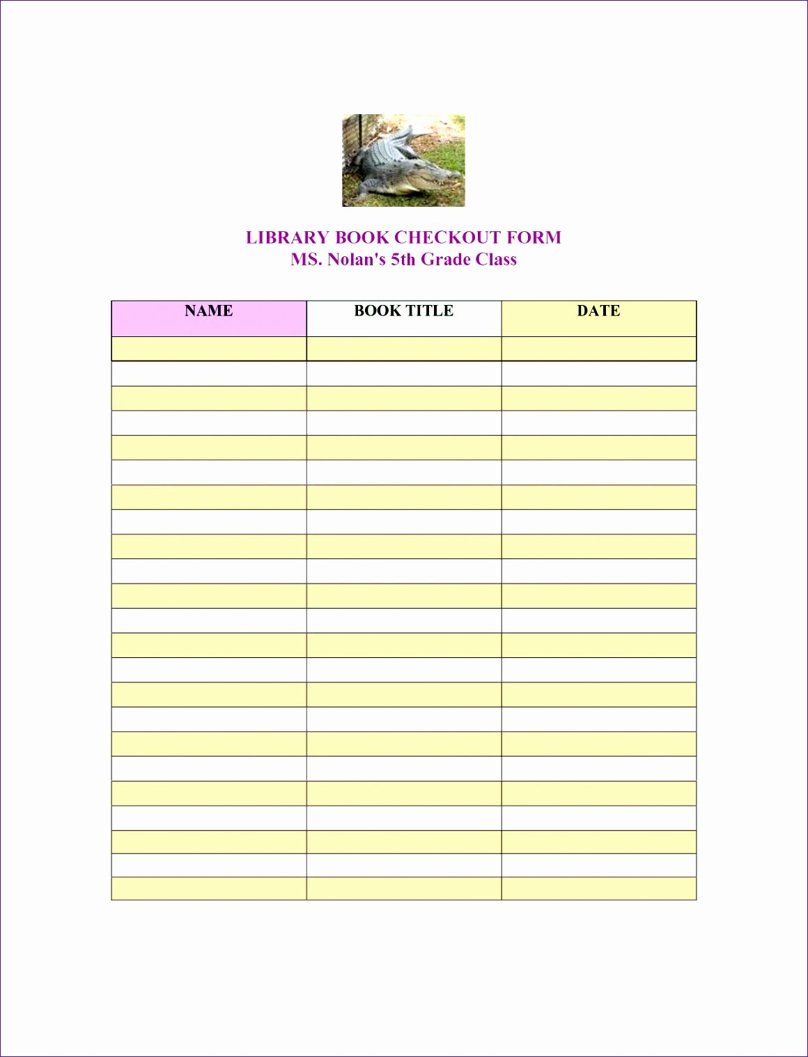Library Checkout Card Template Fresh Library Book Checkout Sheet Haojc Ideas Best S
