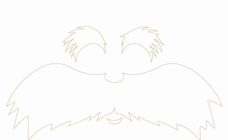 Lorax Eyebrow Template Elegant White Mustache Template