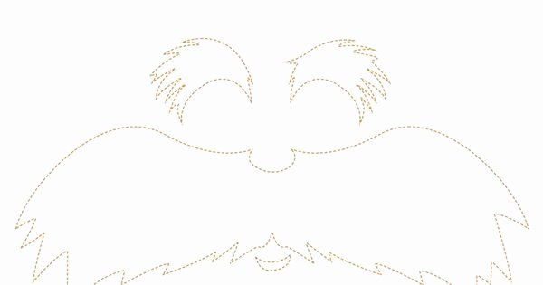 Lorax Mustache and Eyebrows Template Beautiful Lorax Face Cut Out Kids Bday Parties Pinterest