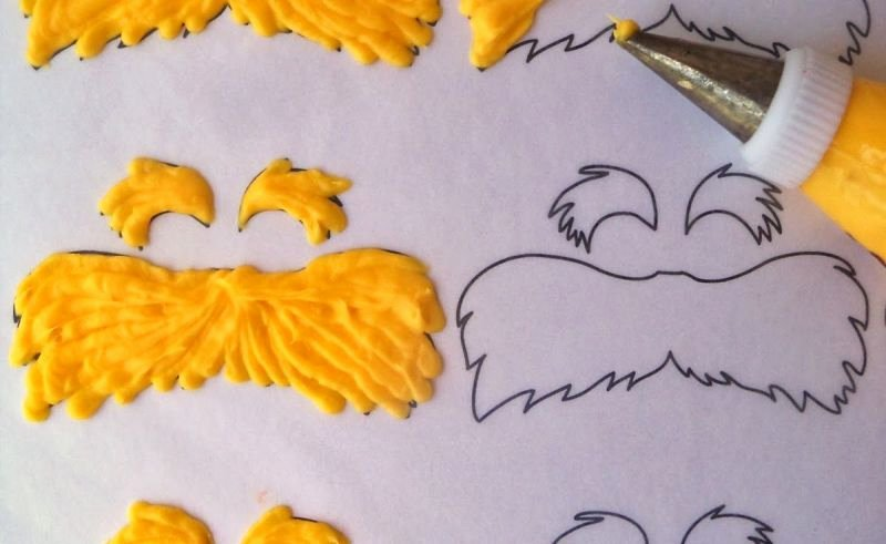 Lorax Mustache and Eyebrows Template New Lorax Mustache Template Printable