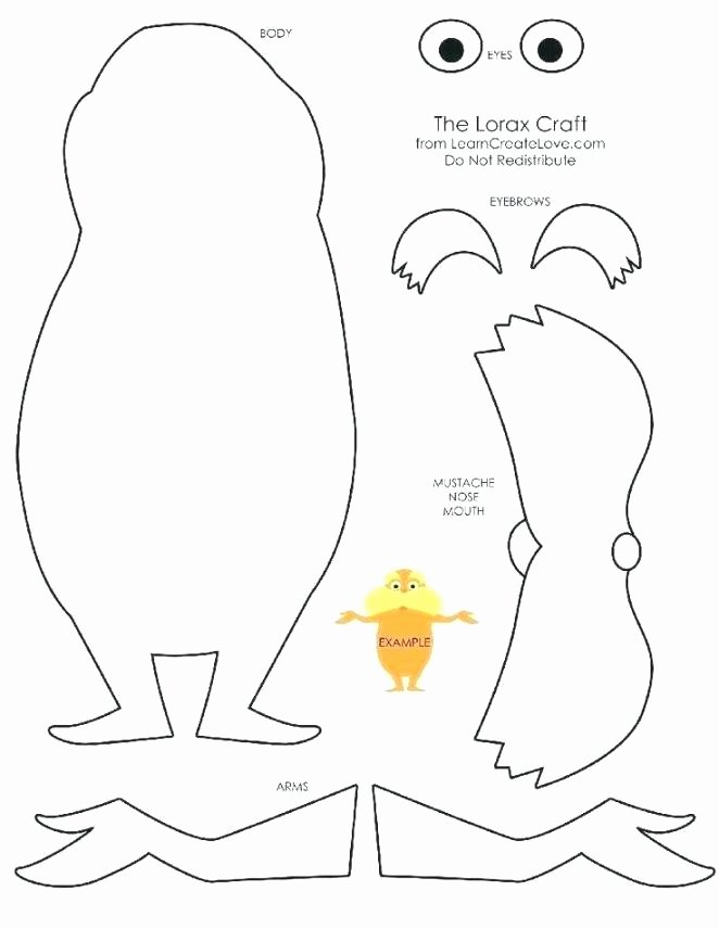 Lorax Mustache Printable Unique Lorax Printable – Jeannettecliftgeorge