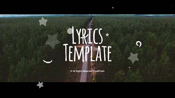 Lyric Video after Effects Best Of Lyrics Template Special events after Effects Templates