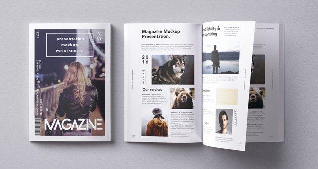 Magazine Cover Templates Psd Awesome Psd Magazine Mockup Vol9 Psd Mock Up Templates