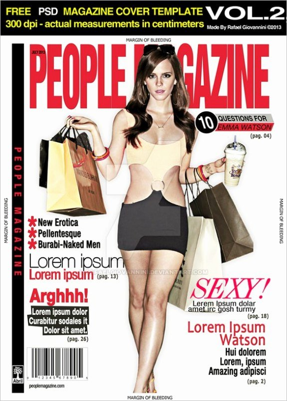 Magazine Cover Templates Psd Fresh 13 Magazine Cover Templates Psd Designs Papers