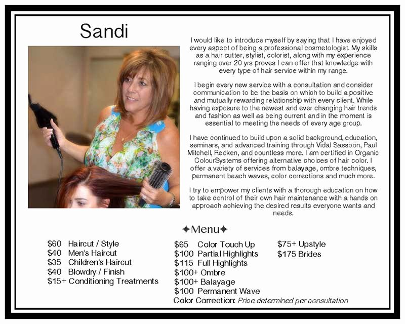 Makeup Artist Bio Sample Fresh Salon Talent
