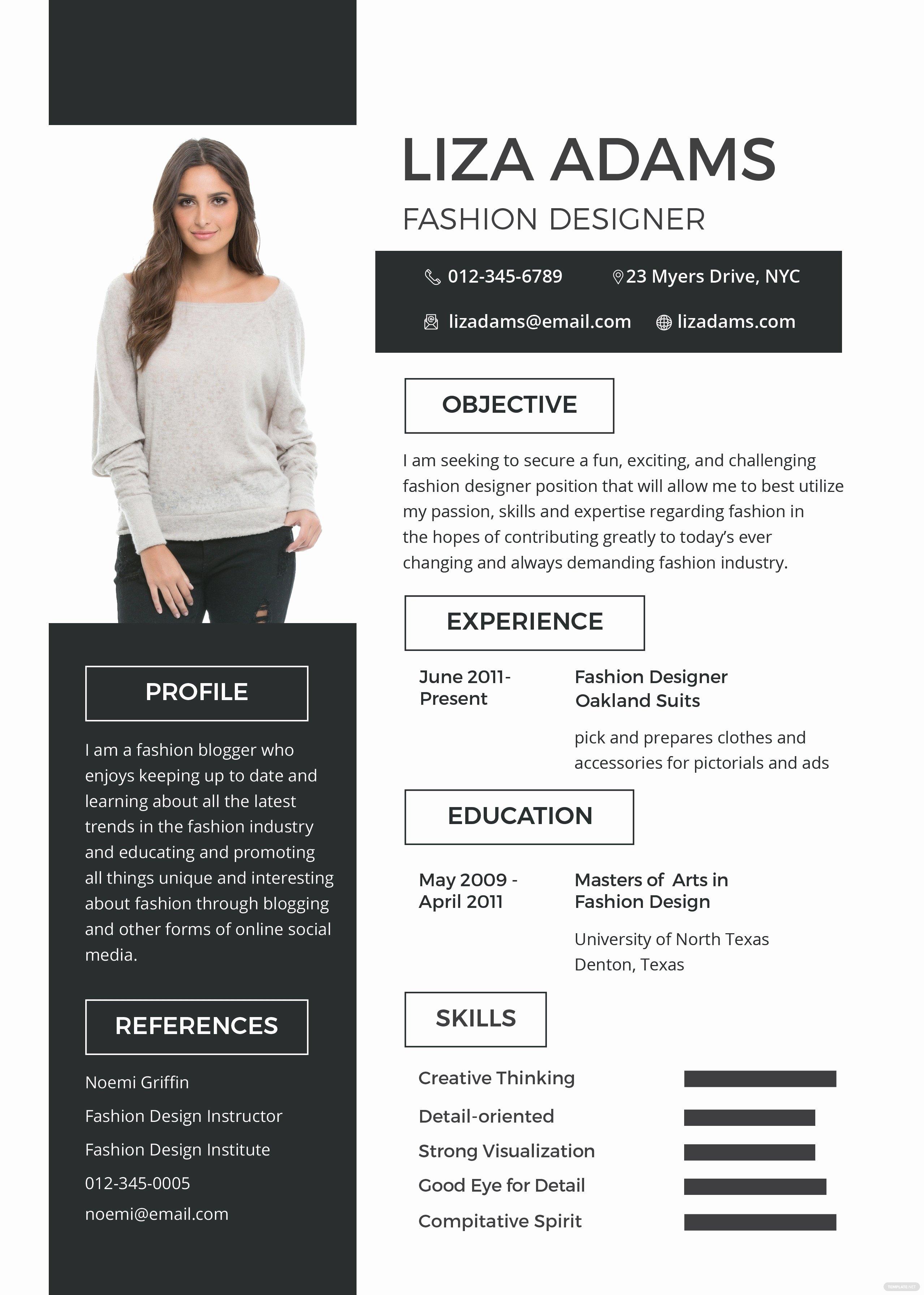 Makeup Artist Bio Sample Inspirational Free Fashion Designer Resume and Cv Template In Psd Ms