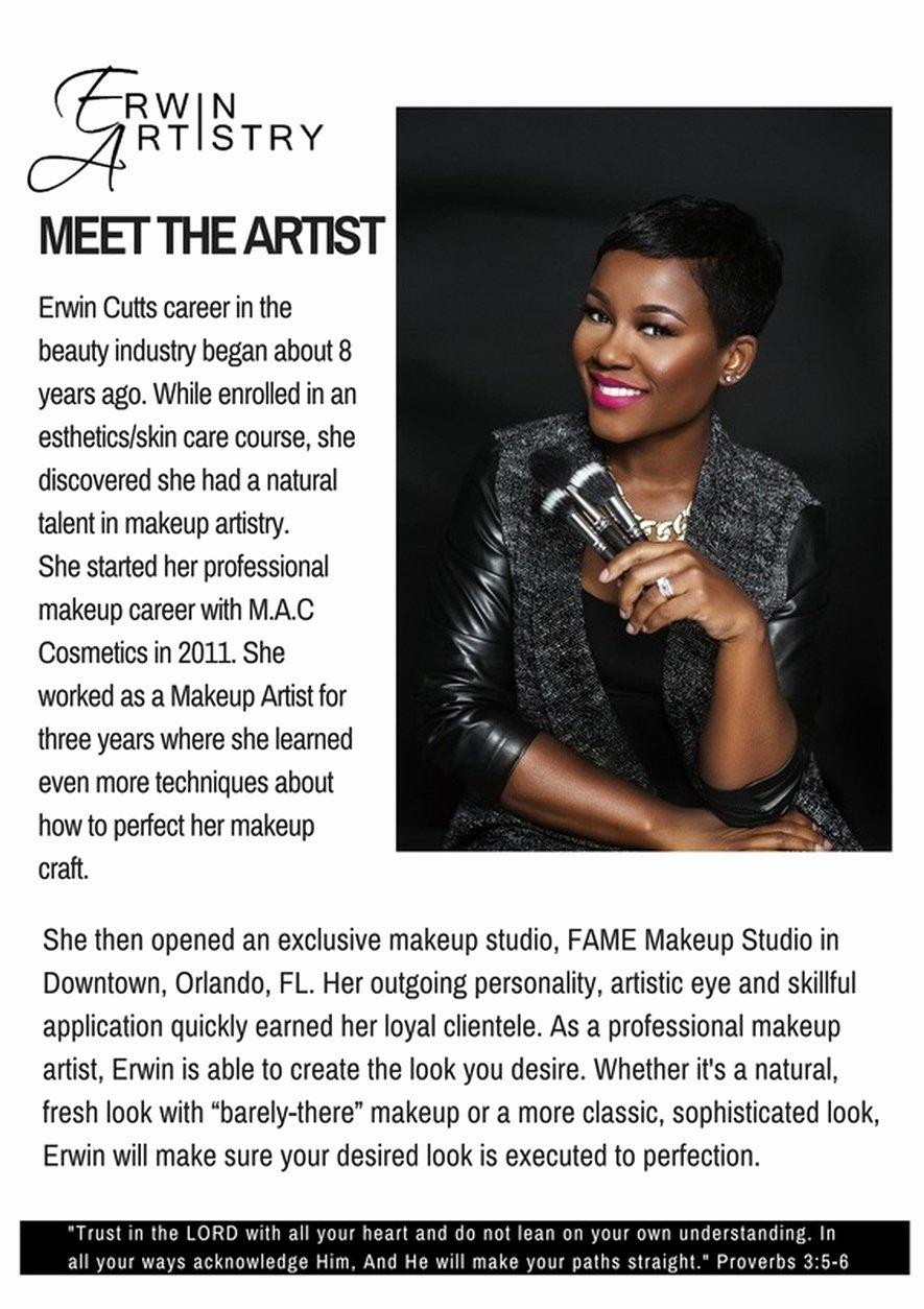 Makeup Artist Bio Sample Unique Makeup Artist Bio Example
