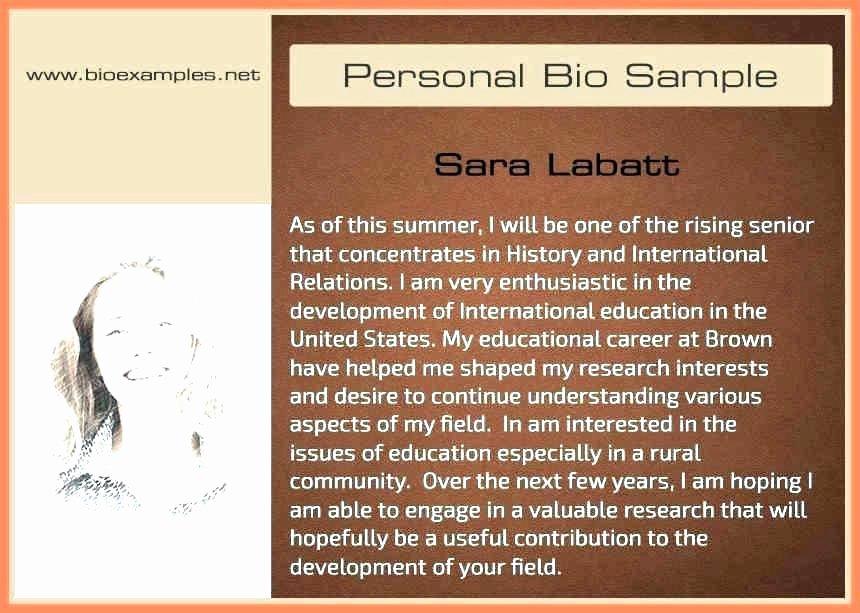 Makeup Artist Bio Sample Unique Personal Bio Examples for College – Ooojo