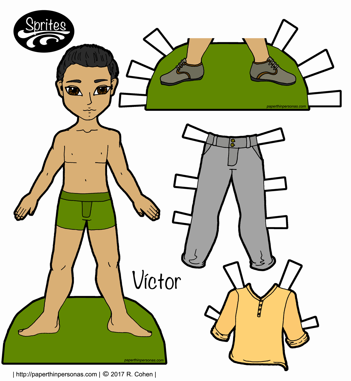 Male Paper Doll Beautiful Male Archives • Paper Thin Personas