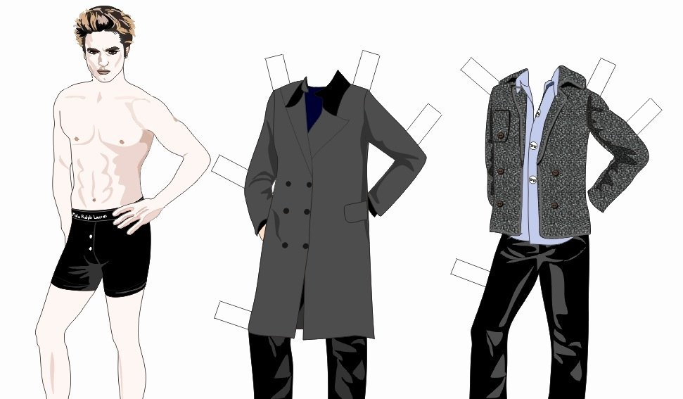 Male Paper Doll Beautiful Wel E to Bustizzle Outeezy Paper Dolls Retro Fun 4