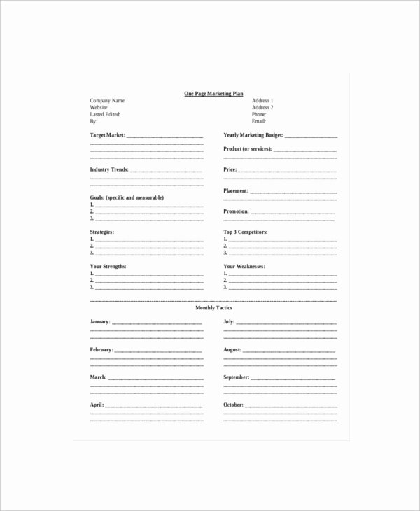 Marketing One Pager Template Best Of 7 E Page Marketing Templates – Free Sample Example