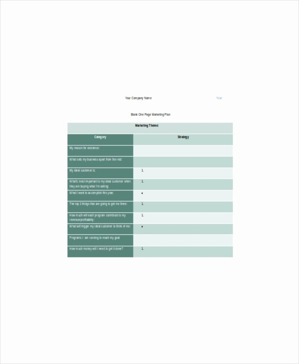 Marketing One Pager Template New E Page Marketing Template – 7 Free Word Pdf Documents