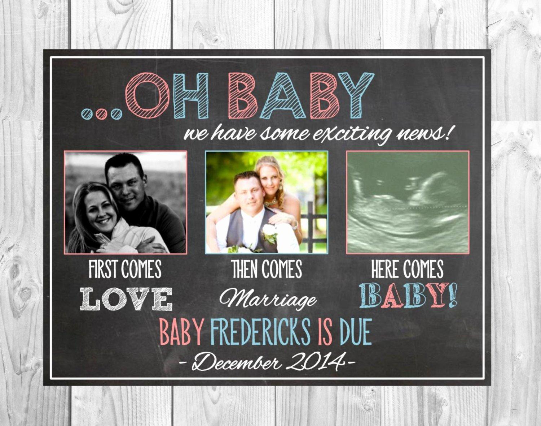 Media Announcement Template Fresh social Media Pregnancy Announcement First Es Love then