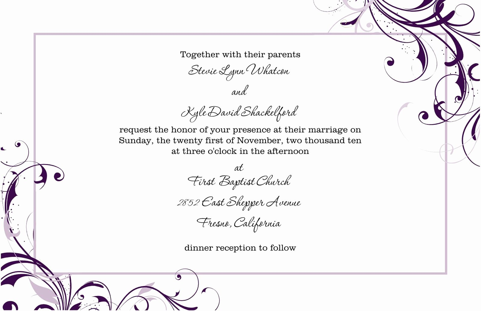 Media Announcement Template Inspirational Free Blank Wedding Invitation Templates for Microsoft Word