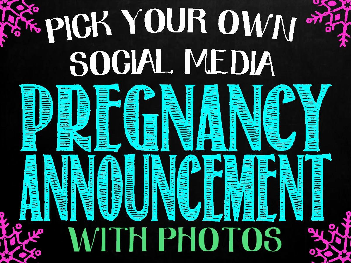 Media Announcement Template Luxury Pregnancy Announcement for social Media