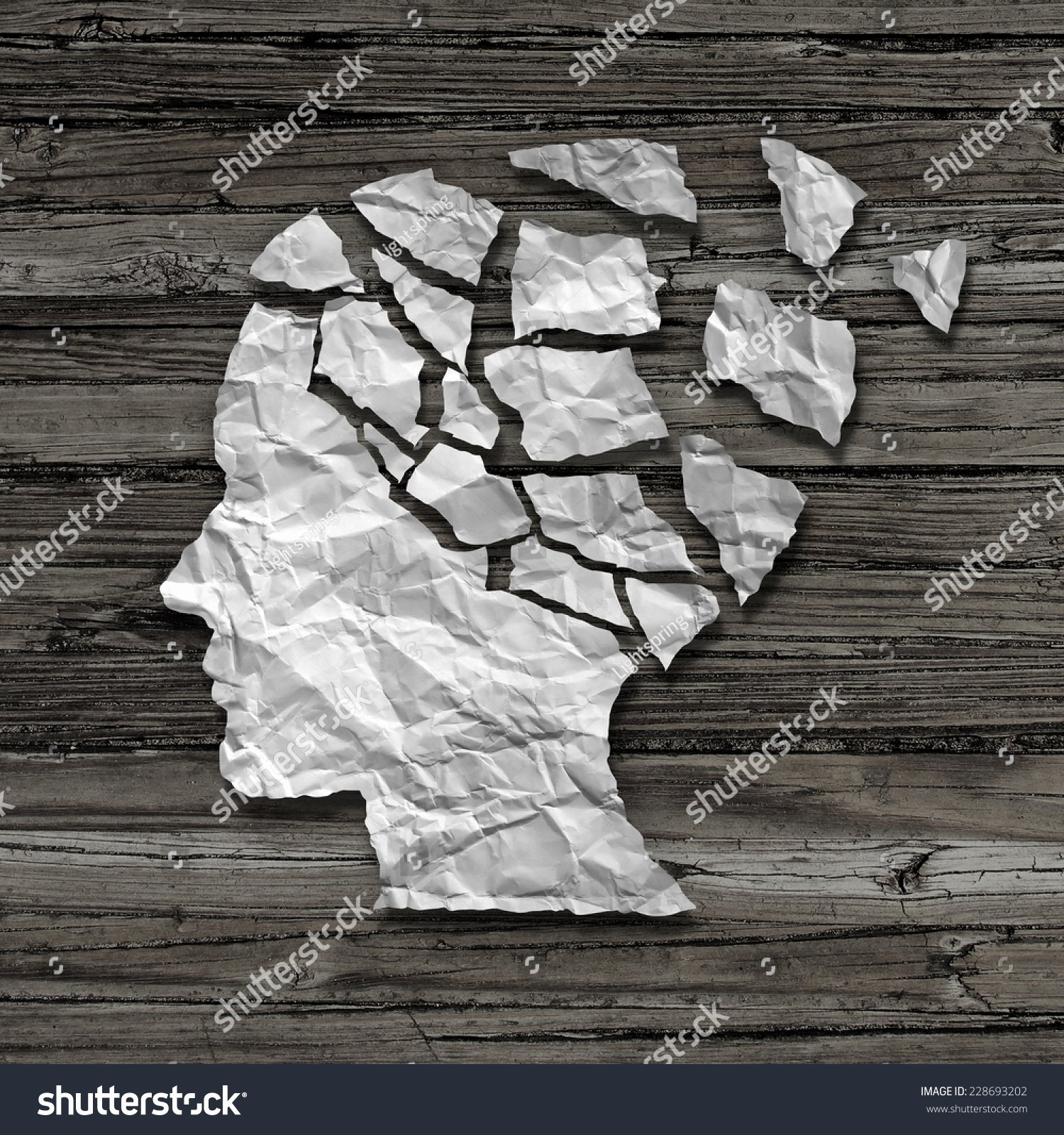 Medical Face Sheet Luxury Alzheimer Patient Medical Mental Health Care Stock